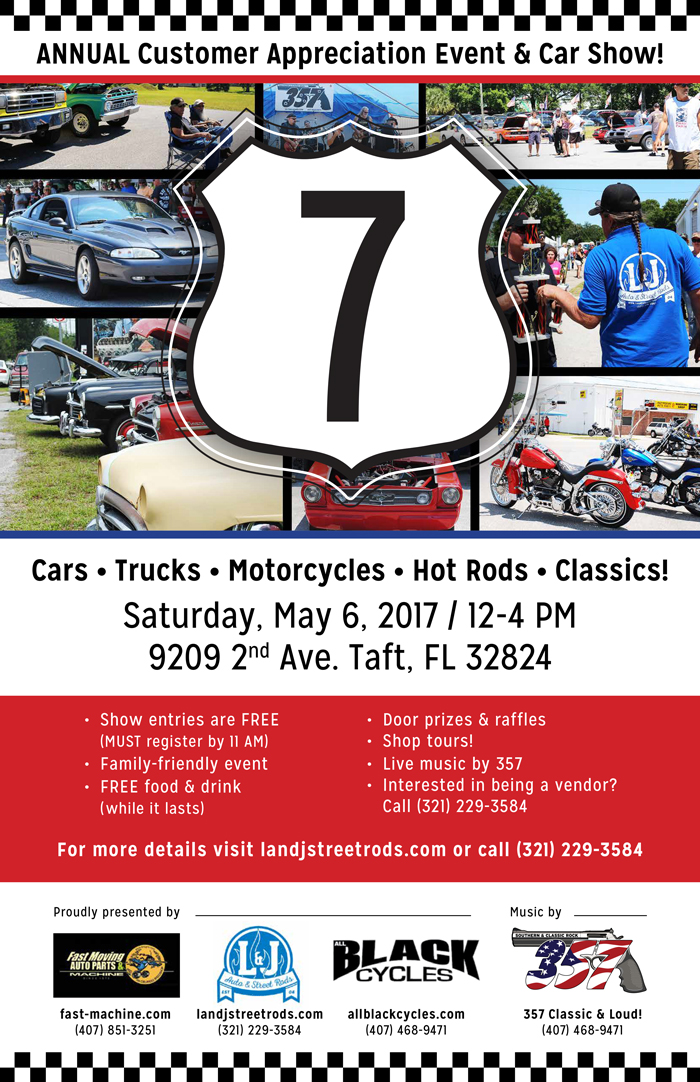 7th Annual Car Show / Customer Appreciation Event!