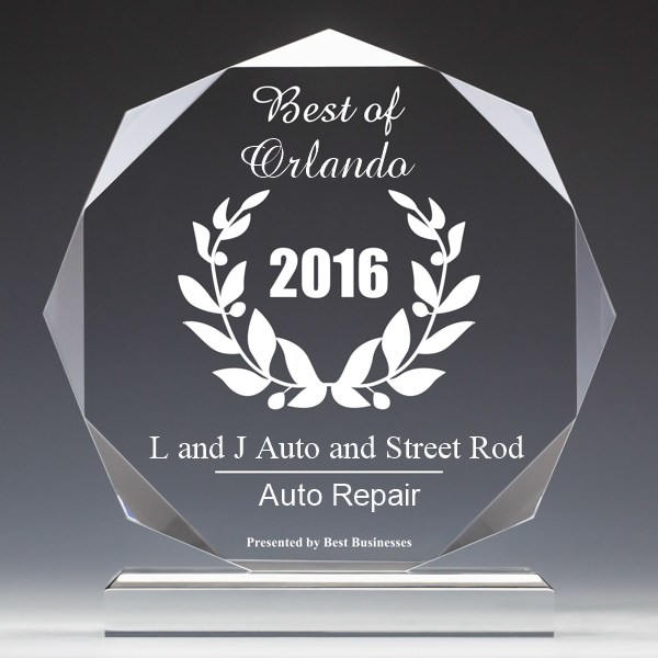L and J Auto and Street Rod Receives 2016 Best Businesses of Orlando Award